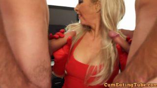 blondie – Light Haired Gargle Bukkake & Gang Fuck Surprise ! British Cougar L…