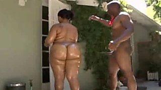 Bootylicious Ebony Slut Fucking A Very Big Shaft Part One
