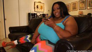 Gorgeous Phat Ebony Babe Cotton Candy Is