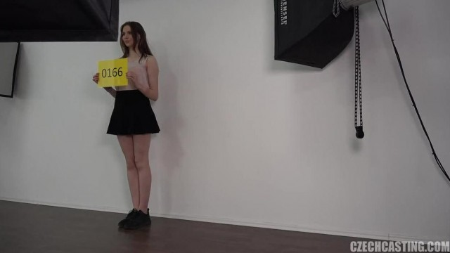Czech beauty nailed on porn audition