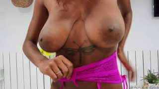 Blowjob – Huge Breasted Ebony Takes A White Cock