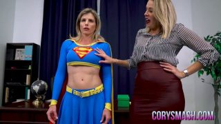 Superheroine Supergirl Is Hypnotized Into Being Lesbian Sex…